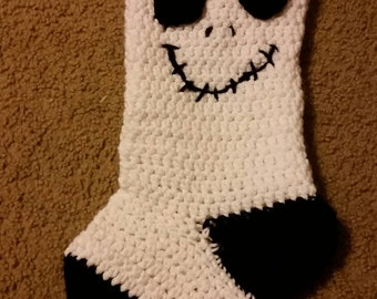Jack Skellington nightmare before christmas hand crochet stocking