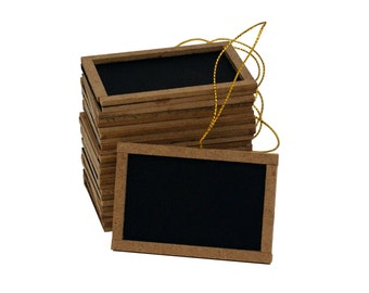 "3""W x 2""H Mini chalk board black board  Vintage Wedding Favor Lot of 12pcs"