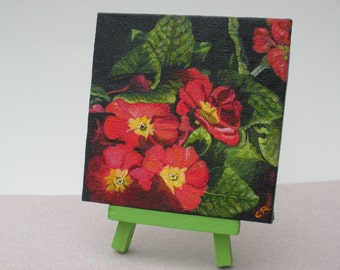 Primrose Painting and Easel