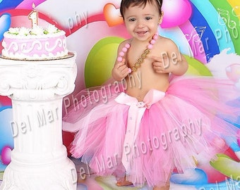 Pink tutu- baby tutu- tutu-smash cake tutu- photo prop- baby skirt-girls tutu- birthday tutu- Newborn tutu-