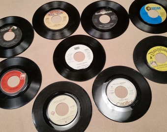 1970's and 1980's45 and 78 RPM Records with Two DJ Cuts