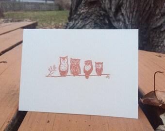 Woodland Animal Handmade Cards, Gold, Copper - Set of 5