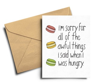 Sorry for being hangry card