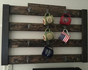 Coffee rack 12 hooks