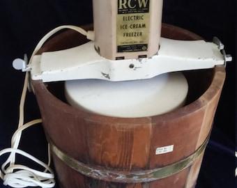 Vintage RCW Electric Ice Cream Maker/ Freezer
