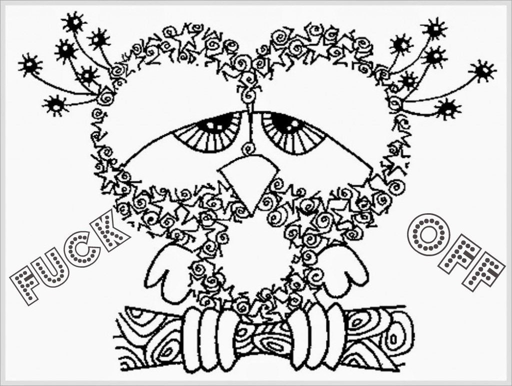 Coloring sheets for adults free to print - Free Printable Coloring Pages With Words Swear