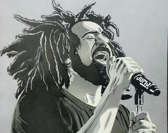 Duritz on Paper, grayscale, black, and white 16x20 request