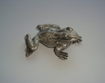 Pewter Frog Paperweight
