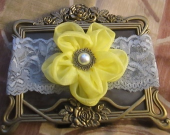 Yellow flower & Lace Headband Hair Band Accessories