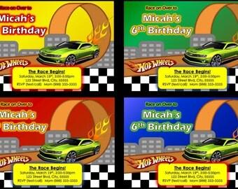 Hot Wheels Party Invitation Printable