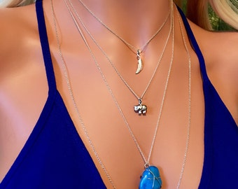 Tiny Elephant Necklace - Sterling Silver Elephant Necklace - Lucky Elephant Charm Necklace - Dainty Elephant Charm Necklace