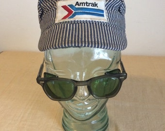 Amtrak Small Engineer Stripe Cotton Cap