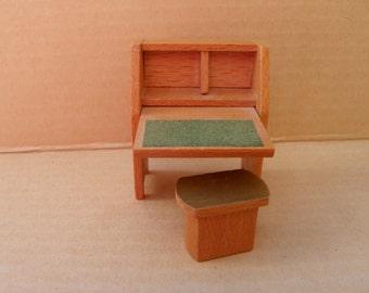 Wood school desk   Etsy NZ