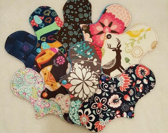 Set of 3, 7.5-8in Thin Cloth Panty Liners