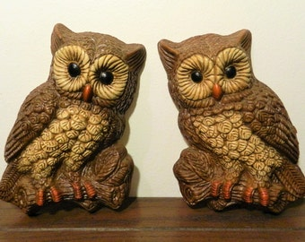Cute Vintage Wall Hanging Owl Pair Decor