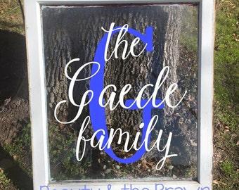 Family Custom Single Pane Vintage Window