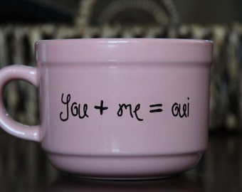 You me oui mug; french; cute mug; soup bowl; soup mug; quote mug; gifts for her; gifts for him; relationship gifts; Valentines gift