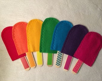 Popsicle Stick Color Matching