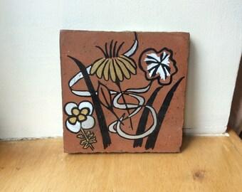 Wild Flowers Art Tile