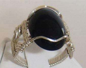 SKU-042 Onyx Ring in Sterling Silver
