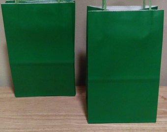 Green craft bags with handles