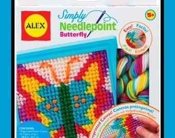 ALEX Craft Simply Needlepoint Butterfly Craft Kit