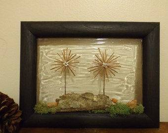 Rustic Wall Decor, Sun Catcher, Wall Hanging, Nature Decor, Wall Art, Pine Cone Art