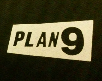 PLAN 9 PATCH canvas HORROR punk rock - Misfits, Samhain, Glenn Danzig records