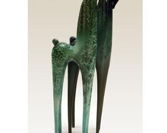 ceramic horse turquoise