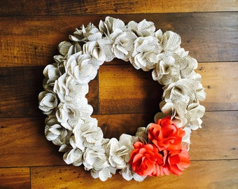 Upcycled Paper Rose Wreath