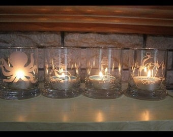 Nautical Themed Candle Holders