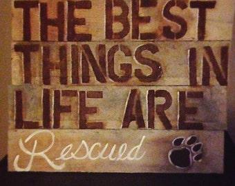 Dog rescue pallet sign