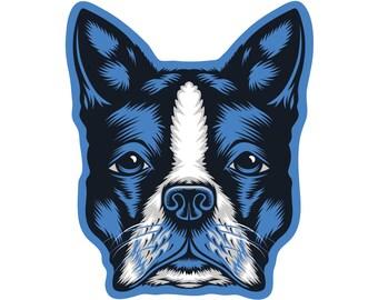 Boston Terrier Die Cut Sticker GD213