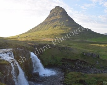 Kirkufell, Iceland w/ Falls Digital Download - Travel Photography - Iceland Photography - Waterfall - Wallpaper - Screen Saver
