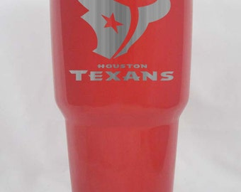 Houston Texans 30 oz Yeti Custom Powder coated or stainless laser engraved free