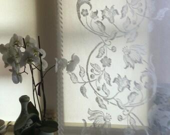 "Stunning ivory period design Scottish lace Laura Ashley style lace curtain panelling size 58"" x 76""to finish"
