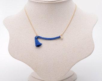 Knit Necklace/Knit Jewelry/Star Necklace/Star Jewelry/Tassels Necklace/Minimalist