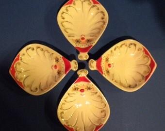 1959 Holt-Howard-Starry-Eye-Santa Dip Dish Set of Four