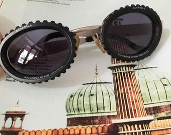 Vintage Chanel camera lens sunglasses