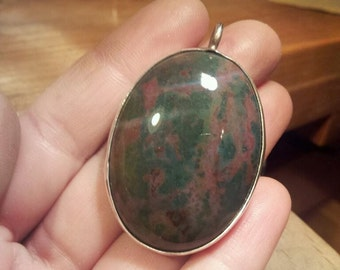 Large Bloodstone Pendant