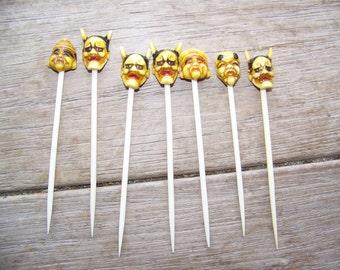 7 Vintage Halloween Devil toothpicks pick