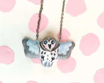 Snow Owl Necklace