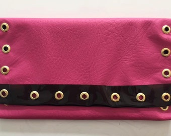 CLUTCH PINK LEATHER
