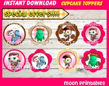 80% OFF SALE Sheriff Callie's Wild West Cupcakes Toppers instant download, Printable Sheriff Callie party cupcakes Topper, Sheriff Party