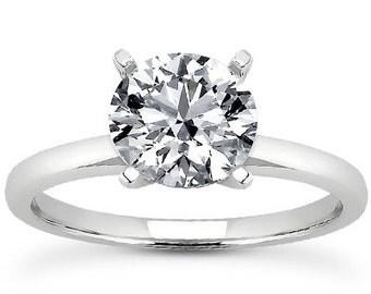 Moissanite Engagement Ring 2.00CT