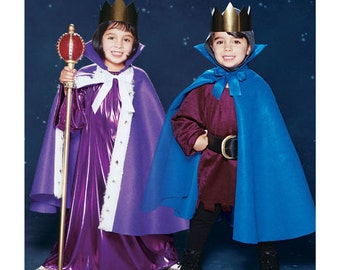 Sewing Pattern for Child Size 3 to 8 (Boys & Girls) Cape Costumes, Simplicity Pattern 5927, Halloween Costume, Capes, Headpieces, Hood