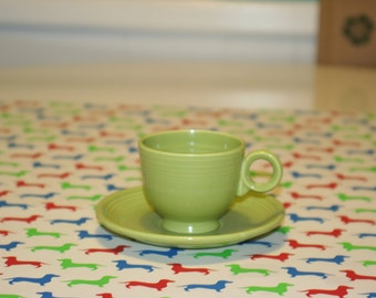Chartreuse (old) Fiestaware Teacup & Saucer