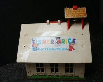 Vintage Fisher Price Play Family School - No. 923 - Made In USA - 1971