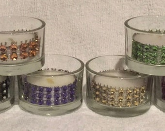 RHINESTONE TEA LIGHTS For All Types Of Events 12 Colors Sold In Sets Of 24