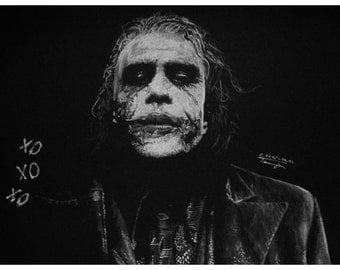Print Joker Heath Ledger The Dark Knight